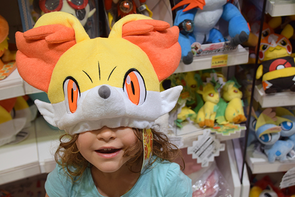 trying the wares at Pokemon Centre Osaka