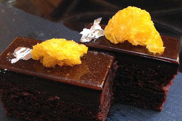 Guanaja chocolate cake at Intercontinental Sydney
