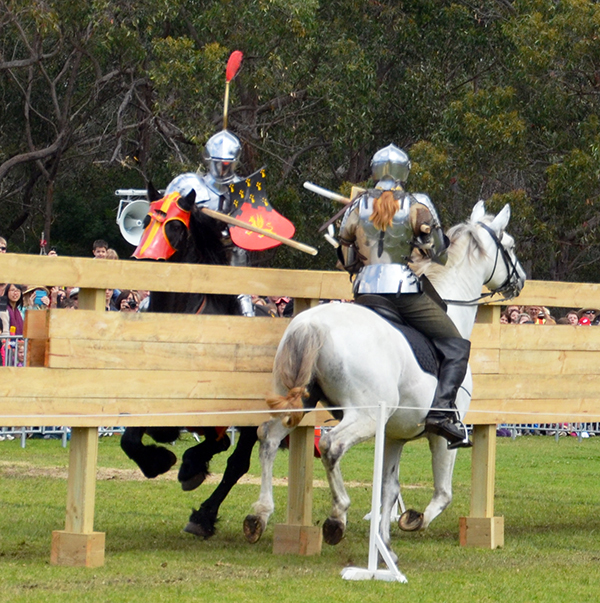 Jousting tournament at St Ives Medieval Faire