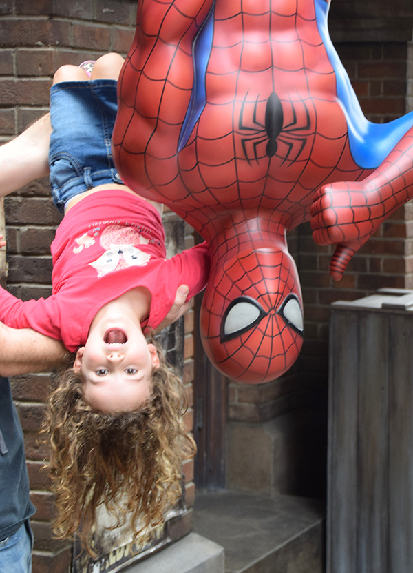 Hanging with Spidey at Universal Studios OSaka