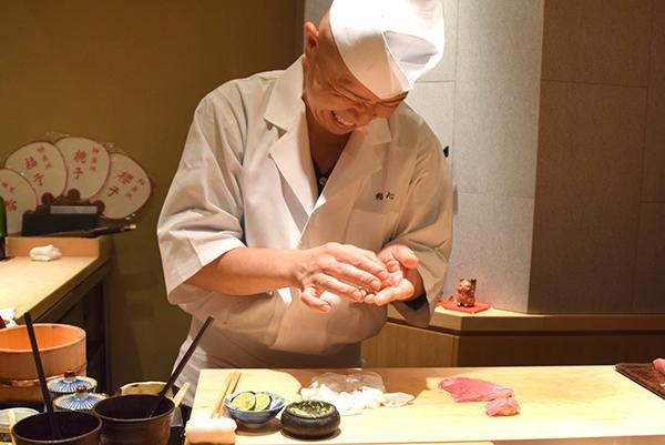 Chef Oba at Sushi Kokoro Tokyo