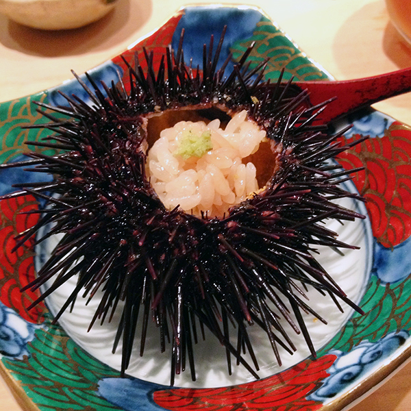 Sea urchin at Sushi Kokoro