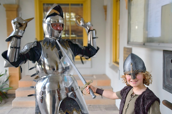 Raffles battles Sir ANdrew the brains behind the St Ives Medieval Faire