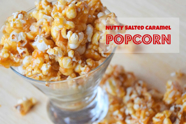 Nutty salted caramel popcorn recipe