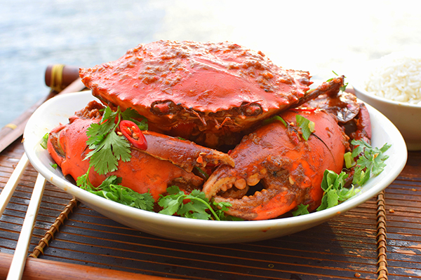 SIngaprore Chilli Crab inspired by a visit to SIngapore's Lau Pa Sat hawker markets #TraveltoTaste