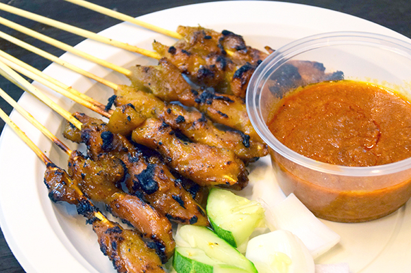 Satay Chicken sticks at Lau Pa Sat's Satay Street #tripadvisor #traveltoeat