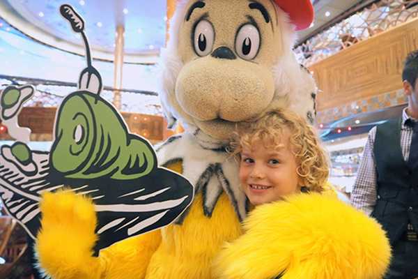 Suess at Sea brunch on Carnival Legend