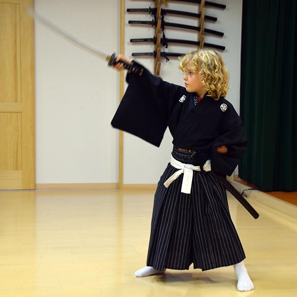 Kyoto with kids - Samurai in training at Samurai Kembu Theater