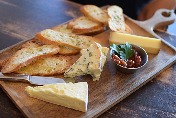Cheese Platter at Hemingway's Manly with triple-creame Brie, Comte and Fourme d'Ambert