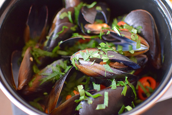 Moules Marinieres at Hemingway's Manly