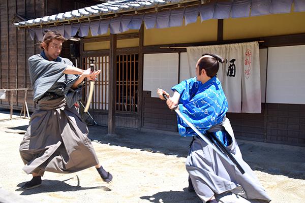 Samurai skirmish at Toei Movie Park
