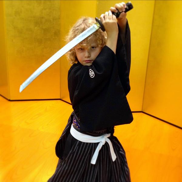 Raffles gets his samurai on at Samurai Kembu