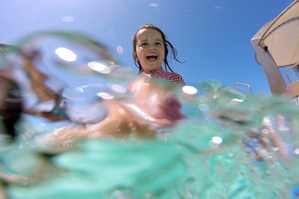 underwater action on the GoPro