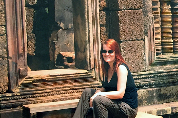 In my happy place at Banteay Srei, Siem Reap