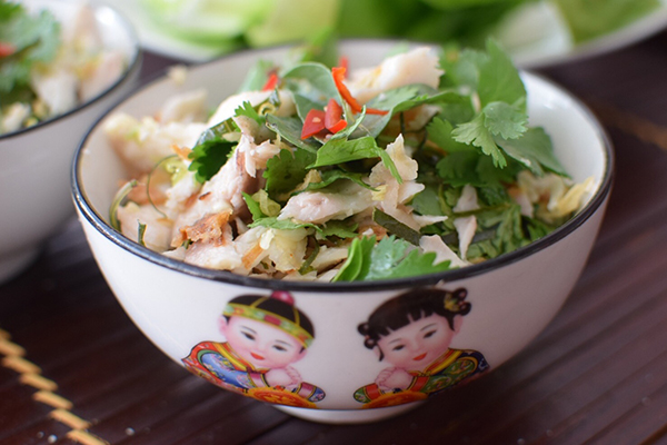 Lemongrass and Lime Fish Salad