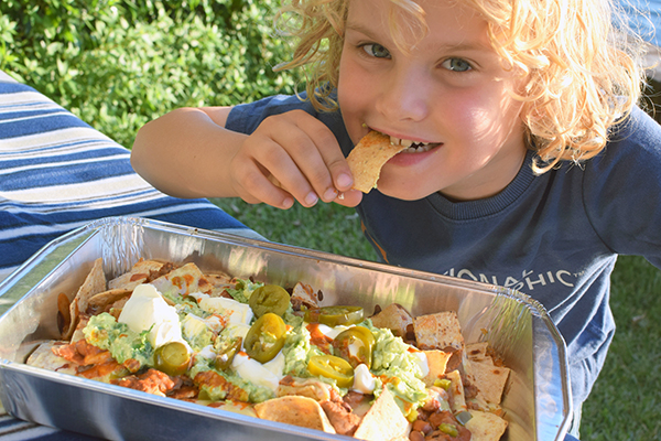 Camp cooking hacks - Smoking hot campfire nachos are quick and easy