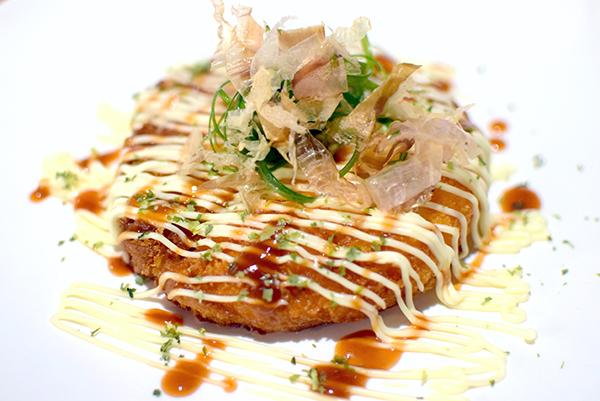 Prawn Toast Okonomiyaki at Salaryman