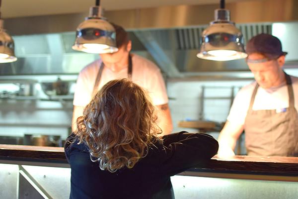 Raffles watching the chefs at work at Salaryman