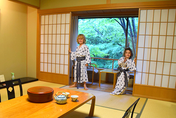 staying in a ryokan with kids kyoto
