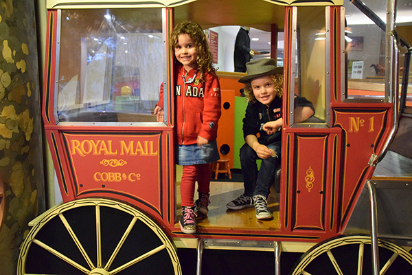 Hands on fun at the Cobb and Co Museum