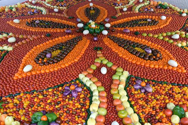 Tomato Mandala at Tomato Festival Sydney
