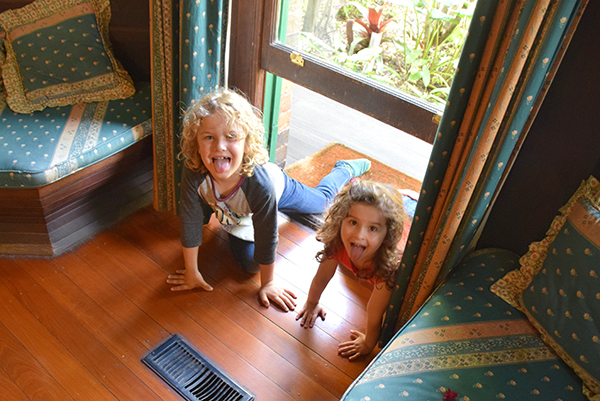The kids  like the doggy door into our room at Vacy Hall