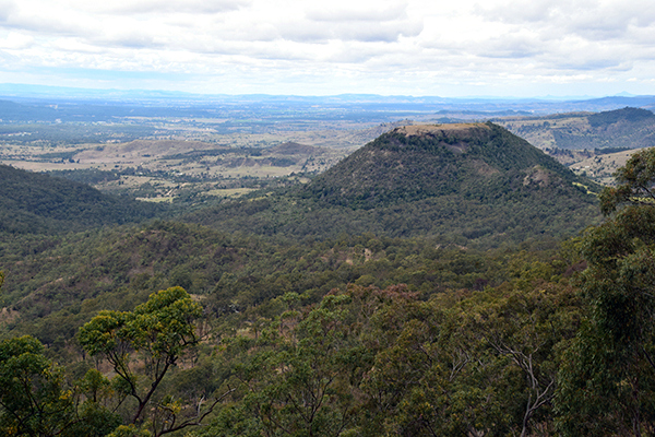 The view form Picnic Point Cafe Toowoomba