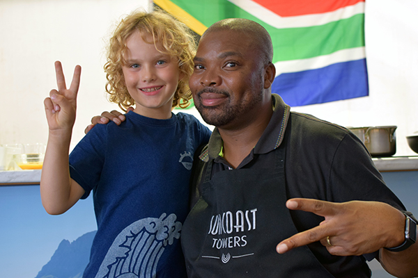 Raffles and South Africa's superstar chef, Benny Masekwameng at Taste of Sydney