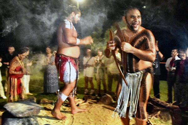 Fire ceremony at Tjabukai Nightfire