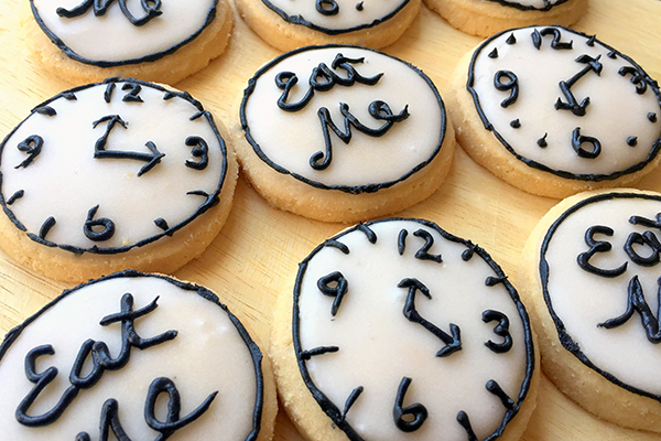 Tic Toc Wonderland Clock Cookies