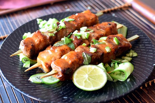 Sweet & Hot Chilli Pork Skewers