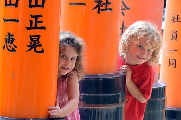 Fushimi Inari with kids