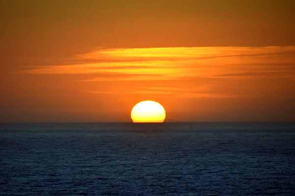 Sun sets at sea on Explorer of the seas