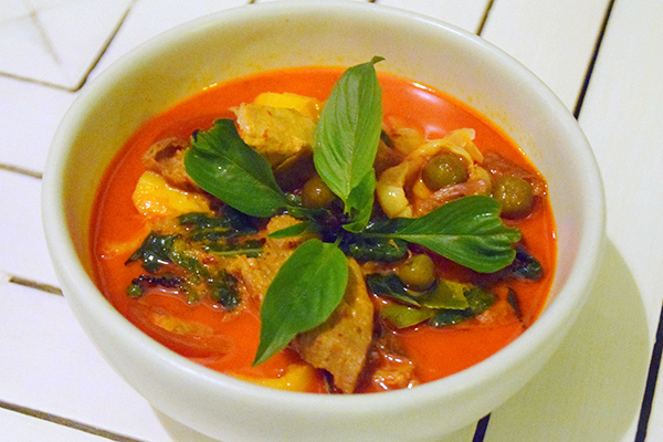 Red duck curry at Suay restaurant Phuket