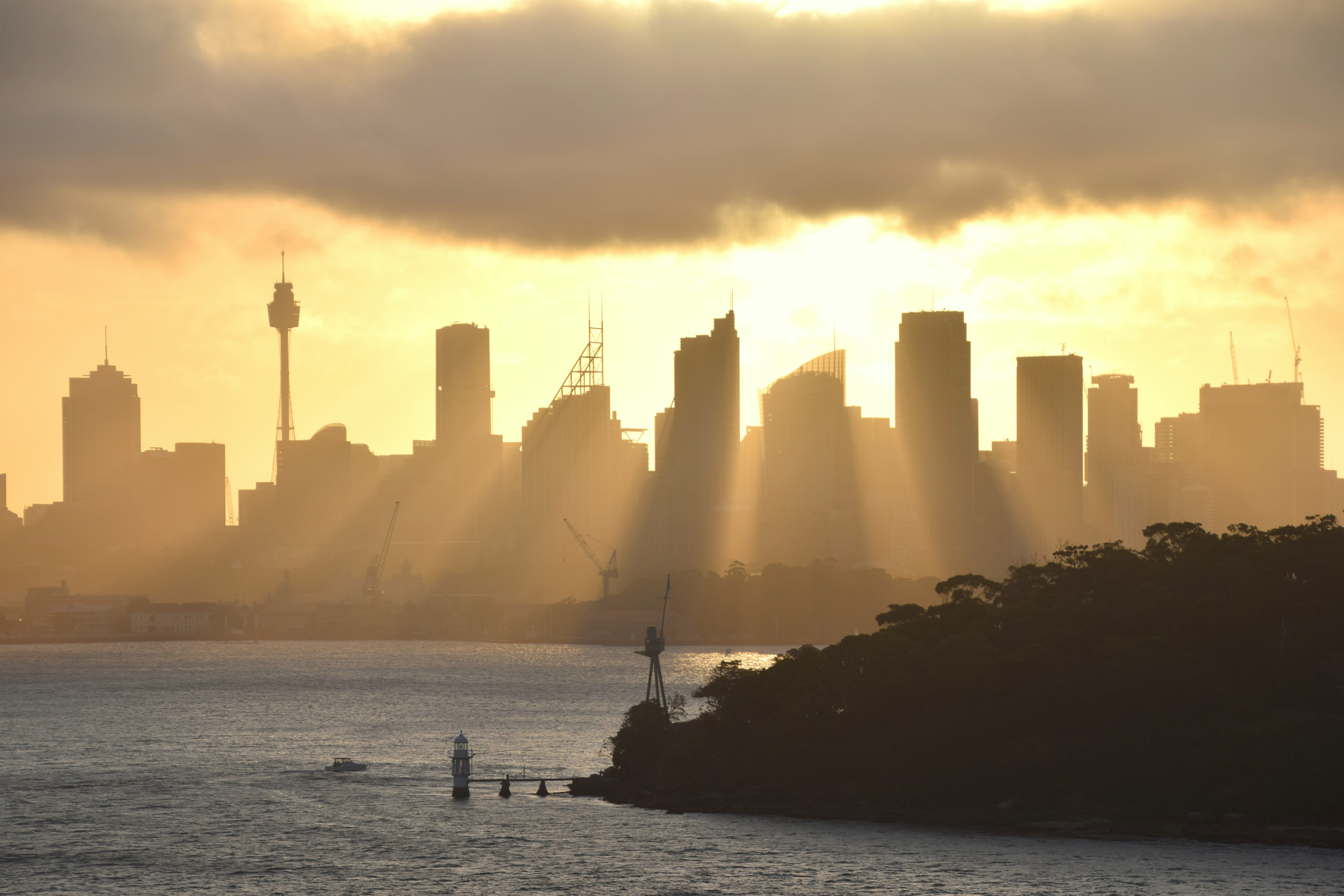 Watching the sun setting over Sydney from Explorer of the Sea