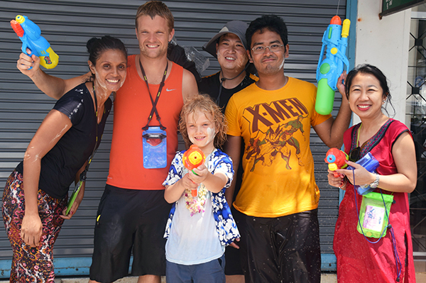 Raffles and the Insider TV Crew in Phuket for Songkran