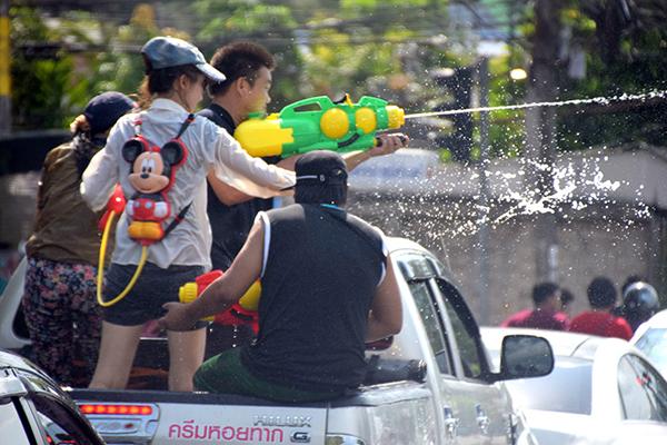 Ready set wet in Old Phuket  for SOngkran