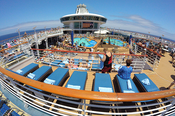 Pool deck on Explorer of the Seas