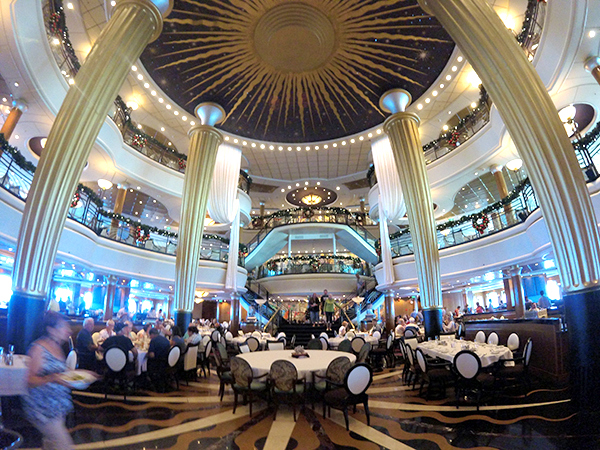 The amazing main dining room on Explorer of the Seas