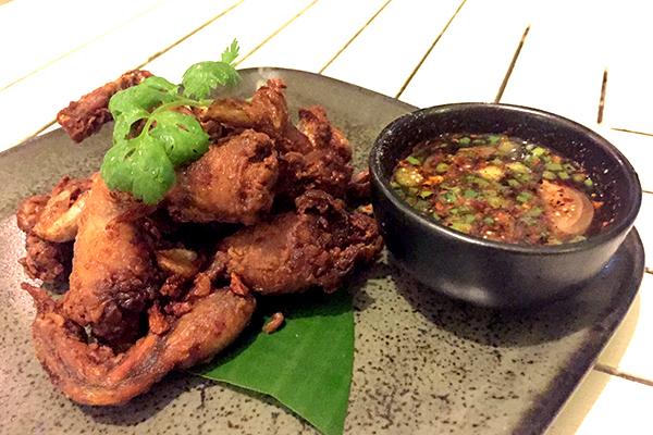 Fired frogs legs at Suay Restaurant Phuket