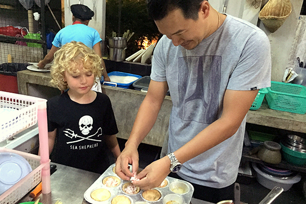 In the kitchen with chef Noi at Suay Restaurant Phuket