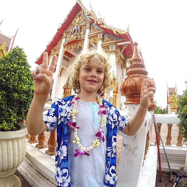 Songkran with kids: Raffles discovers his inner Buddhist at Wat CHolong