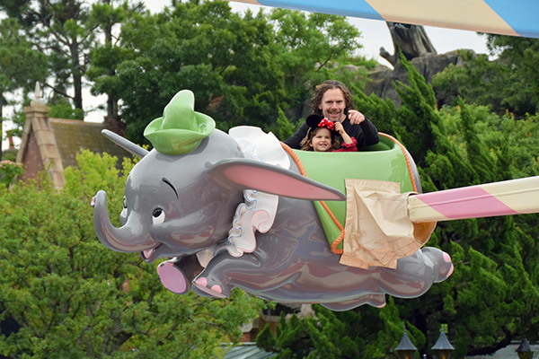 Tokyo Disneyland with kids: Dumbo Ride