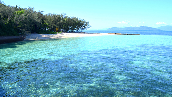Approaching Green Island Cairns