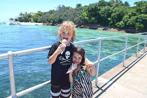 Ice Cream after a big morning on Green Island Cairns