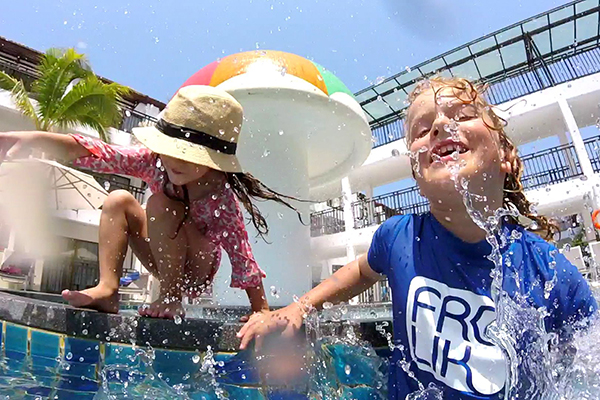 family fun in the pool at Novotel Karon Beach Resort & SPa