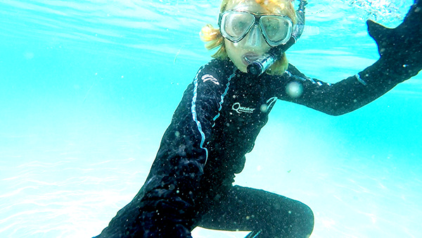 Underwater ninja at Green Island Cairns
