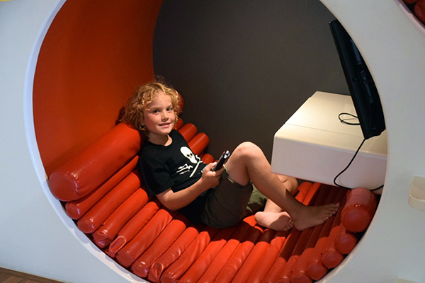 Video game pods at Novotel Phuket Karon Beach Resort and Spa