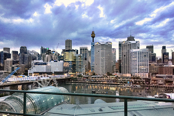 The view from our room at Novotel on Darling Harbour