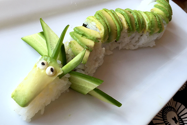 deadly dragon roll made with the ingredients of a Naked Sushi Kit